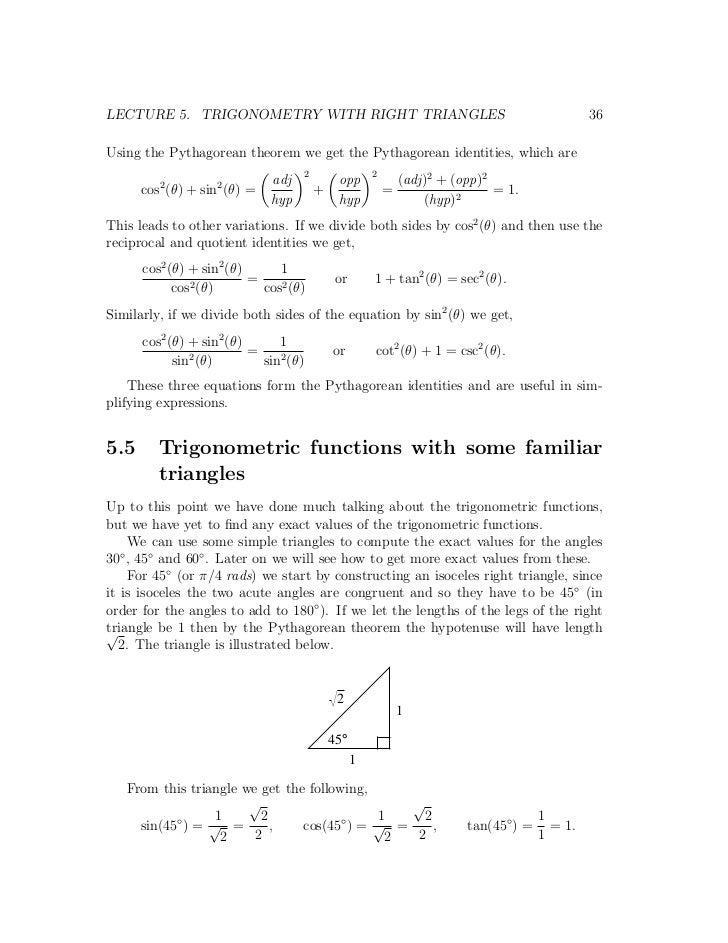 Trignometry notes
