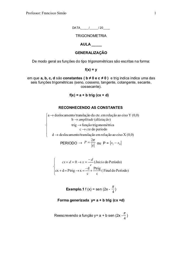 Professor: Francisco Simão                                                    1                              DATA_____/___...