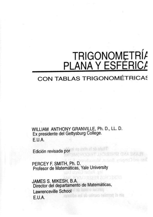Trigonometría de Granville Slide 2