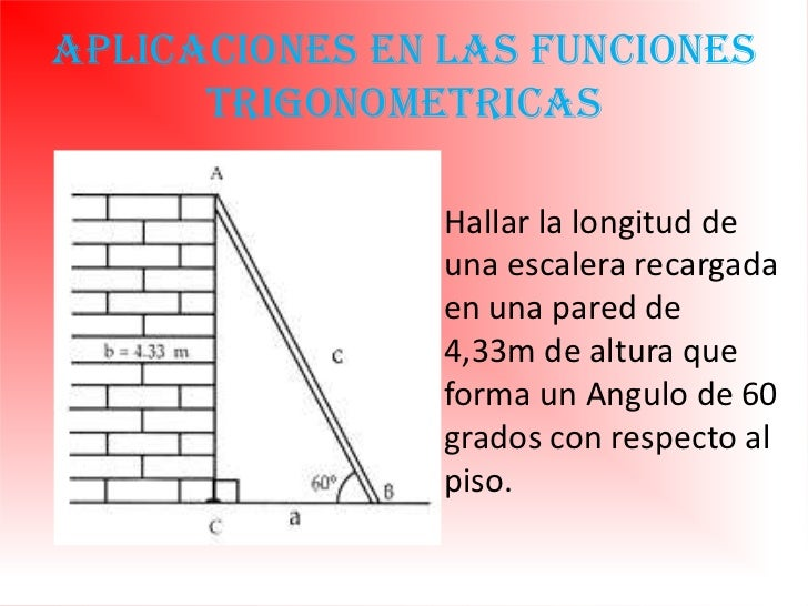 Trigonometria for Trazar una escalera