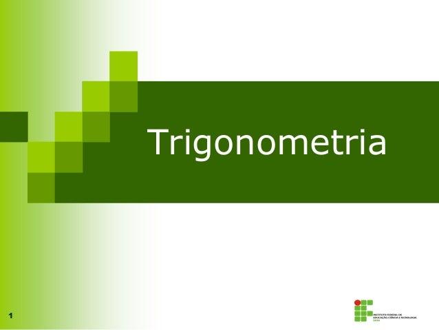 1 Trigonometria