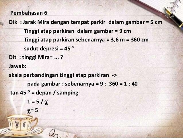 Contoh Soal Dan Materi Pelajaran 5 Contoh Soal Trigonometri Dalam Kehidupan Sehari Hari Beserta Jawabannya