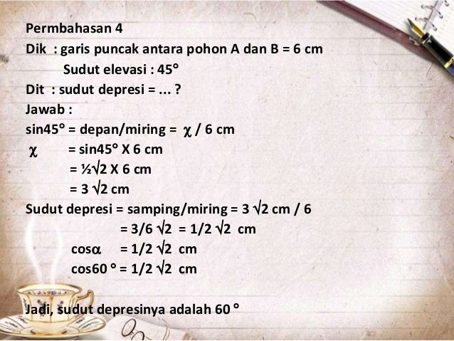 Contoh Soal Trigonometri Dalam Kehidupan Sehari Hari Beserta Jawabannya Contoh Soal Terbaru