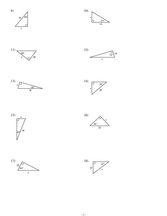 Geometry Trigonometry Worksheets Kuta geometry trigonometry – Trigonometry Worksheets Pdf