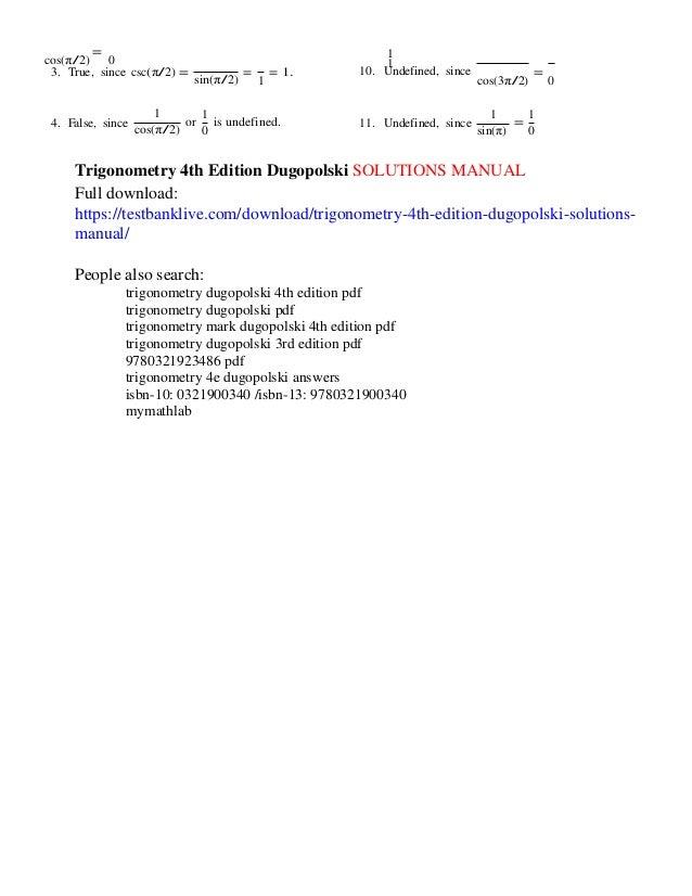 Trigonometry dugopolski 4th edition pdf dolapgnetband trigonometry dugopolski 4th edition pdf fandeluxe Choice Image