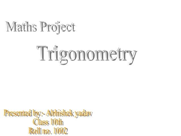 Trigonometry Presentation For Class 10 Students