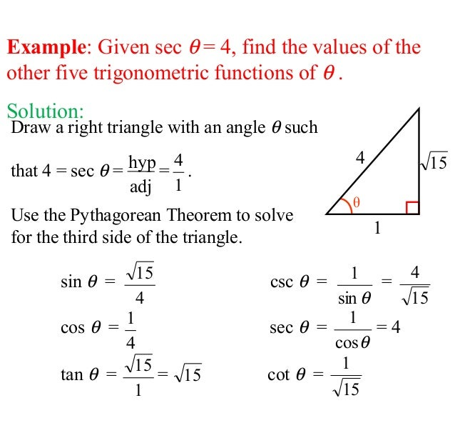 trigonometric ratios problems and solutions pdf