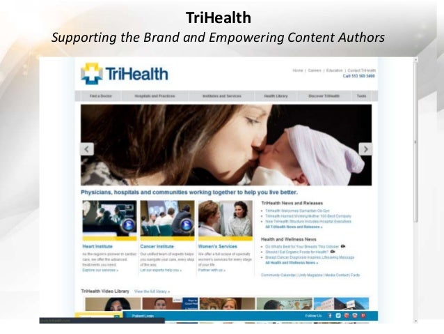 TriHealth  Supporting the Brand and Empowering Content Authors