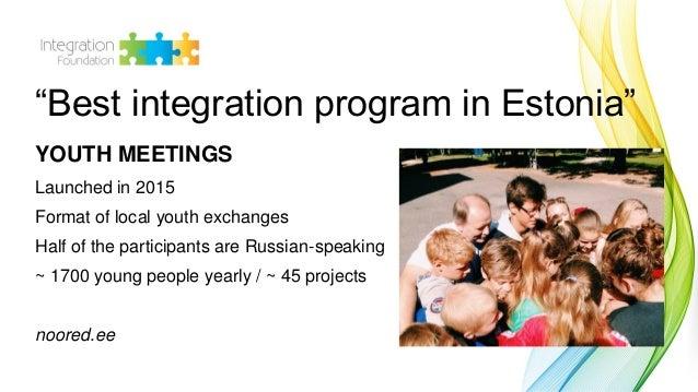 """Triin Ulla: Program """"Youth meetings"""" Slide 2"""