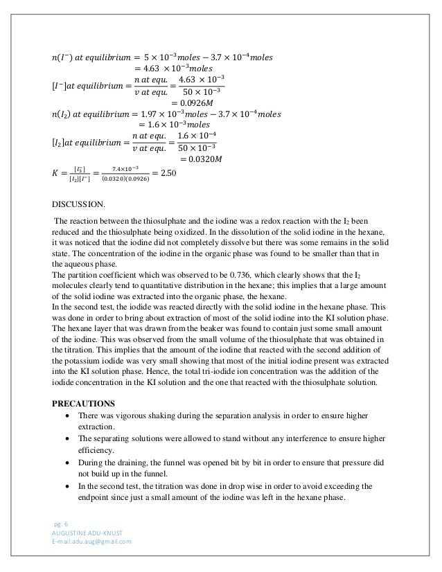 determination of thermodynamic quantities for a chemical reaction lab report