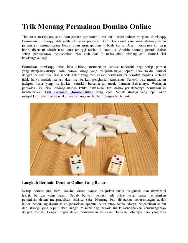 Trik Menang Permainan Domino Qq Online