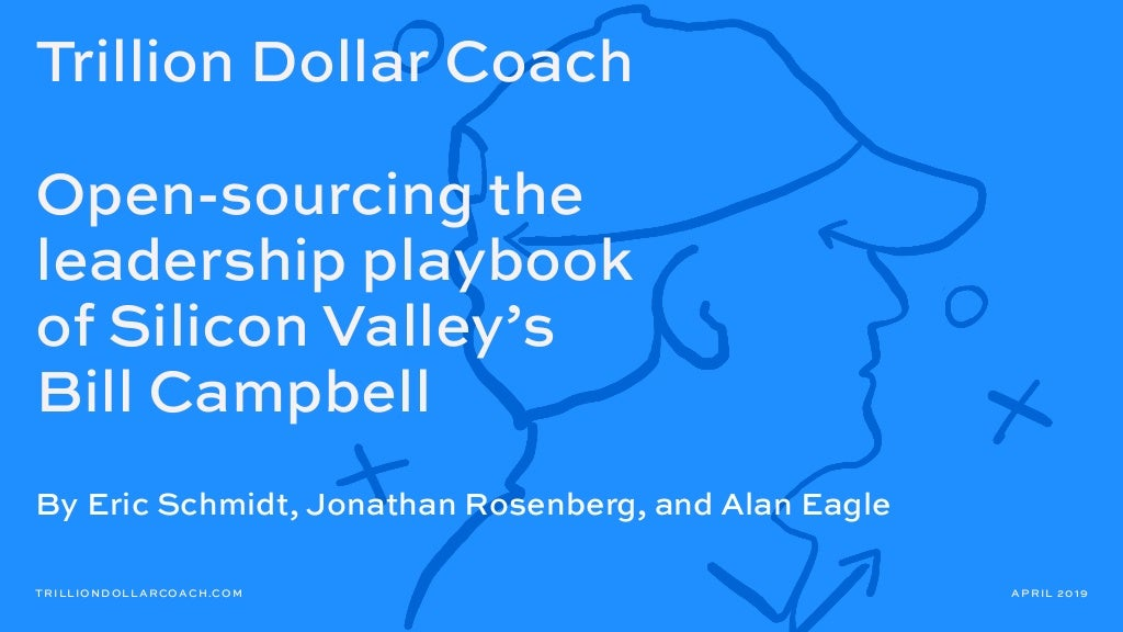 Trillion Dollar Coach Book (Bill Campbell)