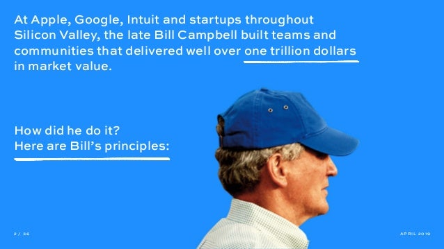 At Apple, Google, Intuit and startups throughout Silicon Valley, the late Bill Campbell built teams and communities that d...