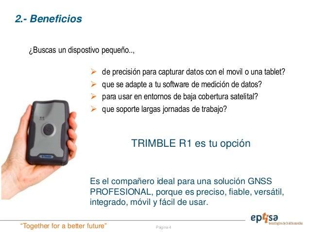 Receptor portátil GPS Trimble R1