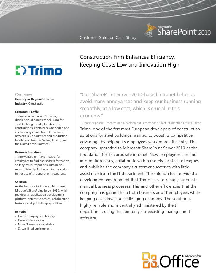 Customer Solution Case Study                                              Construction Firm Enhances Efficiency,          ...
