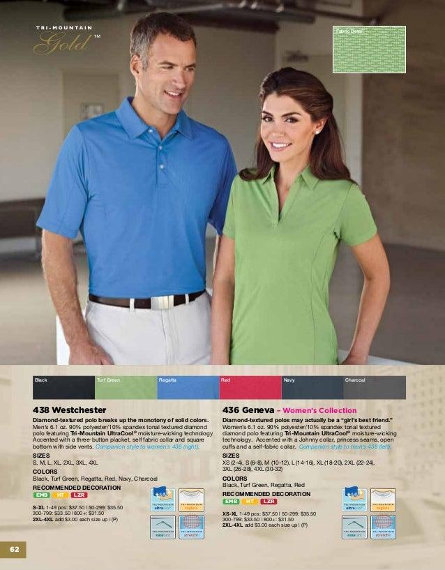 K411 Innovate Tri-Mountain TempDown Moisture-Wicking Performance Polo Shirt