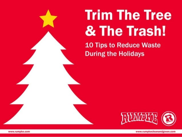 waste reduction during the holidays