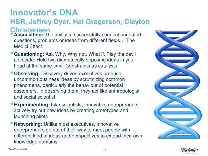 Innovator's DNA HBR, Jeffrey Dyer, Hal Gregersen, Clayton Christensen  Associating: The ability to successfully connect u...