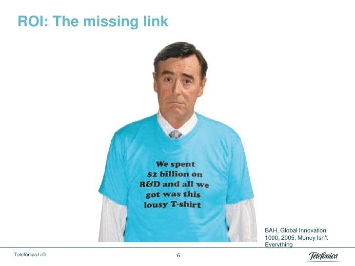ROI: The missing link                             BAH, Global Innovation                             1000, 2005, Money Isn...