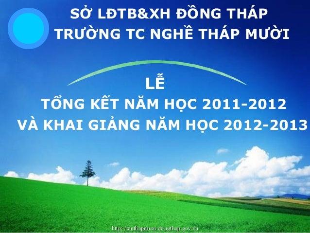 http://tcnthapmuoi.dongthap.gov.vnhttp://tcnthapmuoi.dongthap.gov.vn LOGO SỞ LĐTB&XH ĐỒNG THÁP TRƯỜNG TC NGHỀ THÁP MƯỜI LỄ...