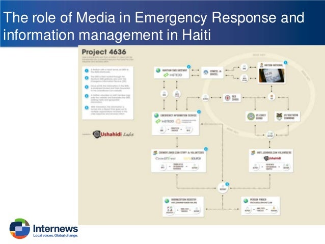 The role of Media in Emergency Response and information management in Haiti