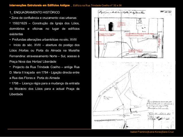 Intervenções Estruturais em Edifícios Antigos _ Edifício na Rua Trindade Coelho nº 32 a 36Isabel Flaminio|Ivana Korac|Sara...