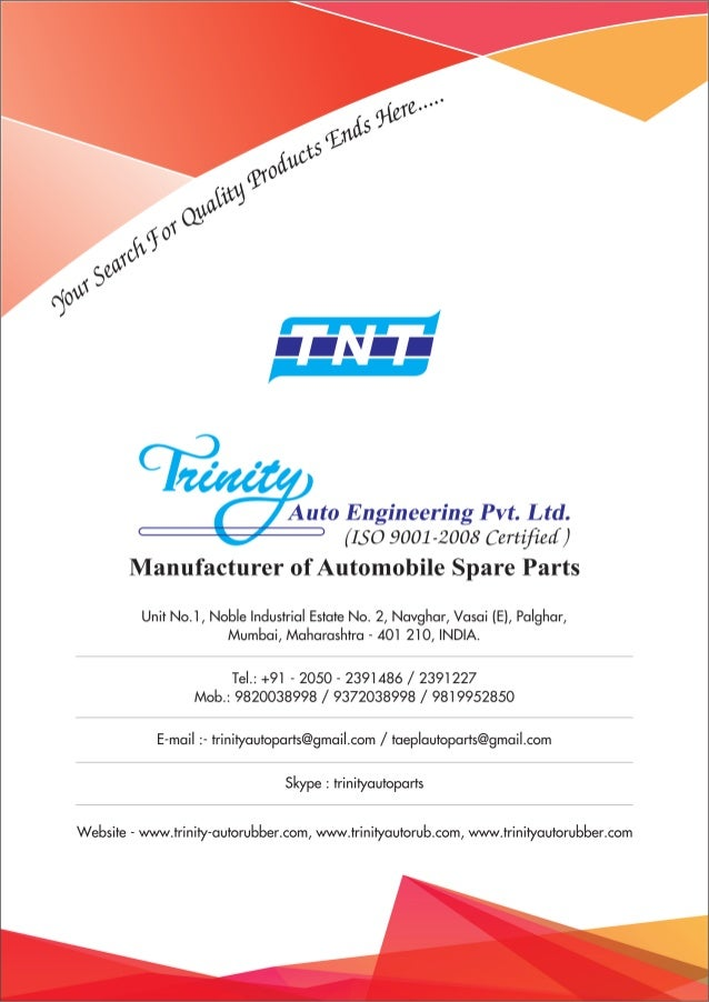 Trinity Auto Engineering (P) Limited, Thane, Rubber to Metal Bonded Parts