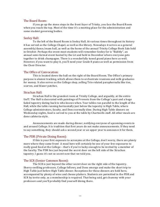 trinity college student handbook