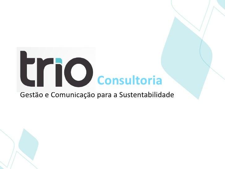 ConsultoriaGestão e Comunicação para a Sustentabilidade