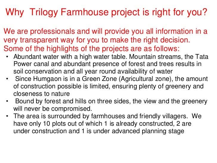 Farm house projects in maharashtra