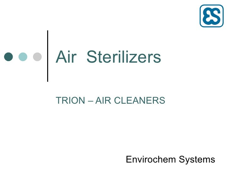 Air  Sterilizers TRION – AIR CLEANERS