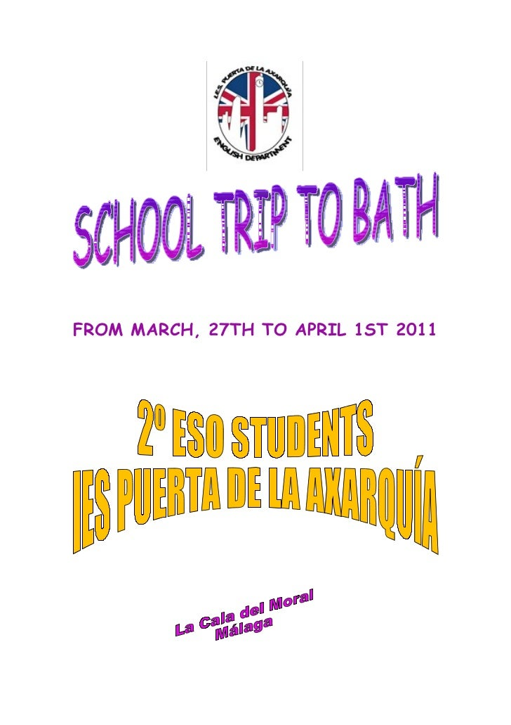 FROM MARCH, 27TH TO APRIL 1ST 2011