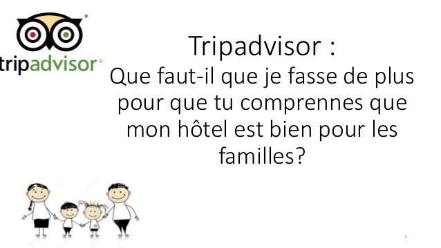 Tripadvisor : Que faut-il que je fasse de plus pour que tu comprennes que mon hôtel est bien pour les familles? 1