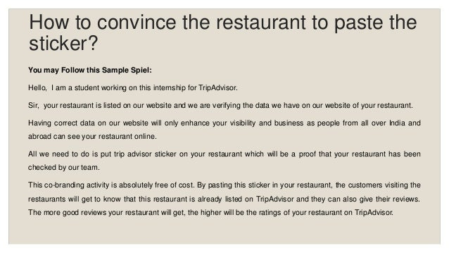 TripAdvisor Restaurant Co-Branding Training Presentation
