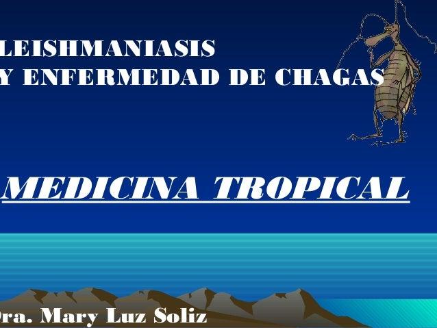 LEISHMANIASIS Y ENFERMEDAD DE CHAGAS  MEDICINA TROPICAL  Dra. Mary Luz Soliz
