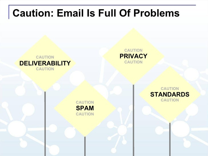 Caution: Email Is Full Of Problems CAUTION STANDARDS CAUTION CAUTION SPAM CAUTION CAUTION PRIVACY CAUTION CAUTION DELIVERA...