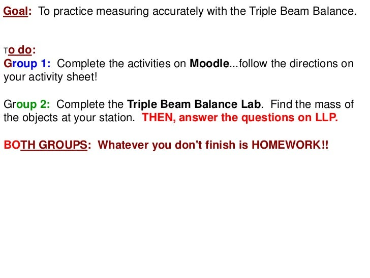 Triple Beam Balance Class Notes