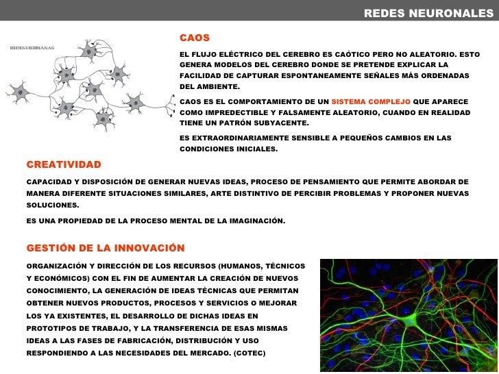 REDES NEURONALES CAOS EL FLUJO ELÉCTRICO DEL CEREBRO ES CAÓTICO PERO NO ALEATORIO. ESTO GENERA MODELOS DEL CEREBRO DONDE S...