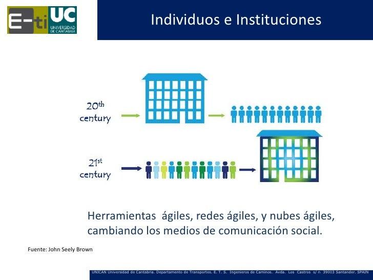 Individuos e Instituciones                      Herramientas ágiles, redes ágiles, y nubes ágiles,                      ca...