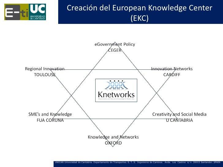 Creación del European Knowledge Center                          (EKC)UNICAN Universidad de Cantabria. Departamento de Tran...
