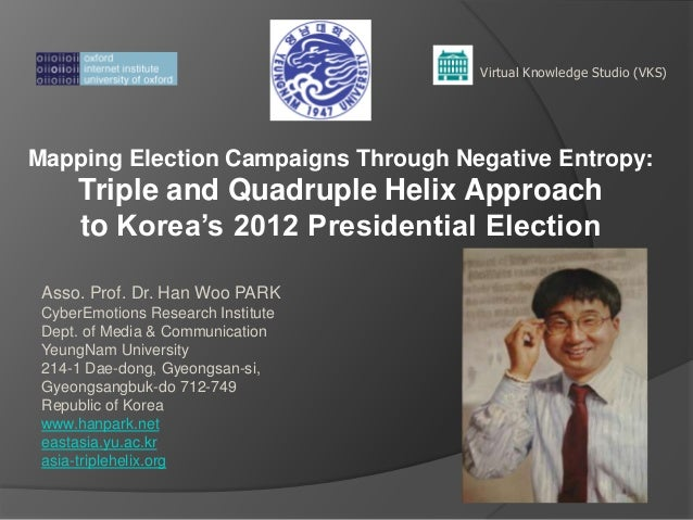 Mapping Election Campaigns Through Negative Entropy:Triple and Quadruple Helix Approachto Korea's 2012 Presidential Electi...