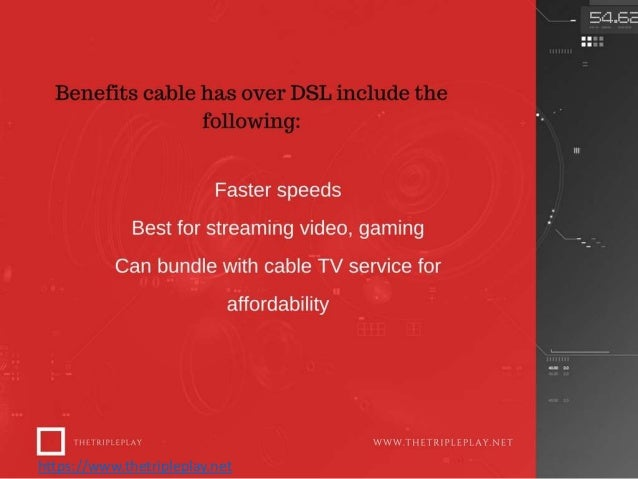 Internet speed Comparison DSL Vs Cable | Thetripleplay