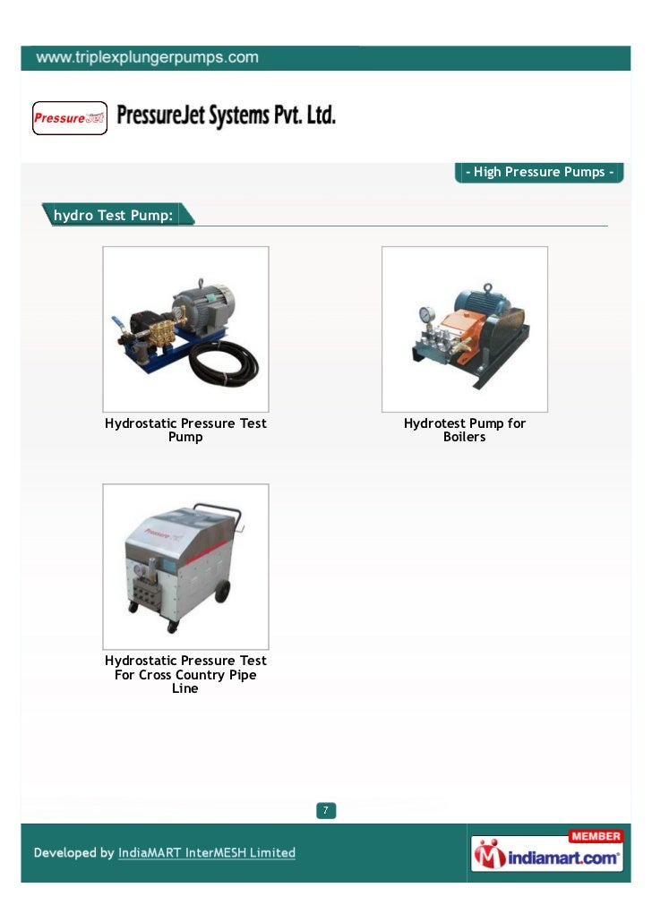 Pressure Jet Systems Private Limited, Ahmedabad, High Pressure Pumps
