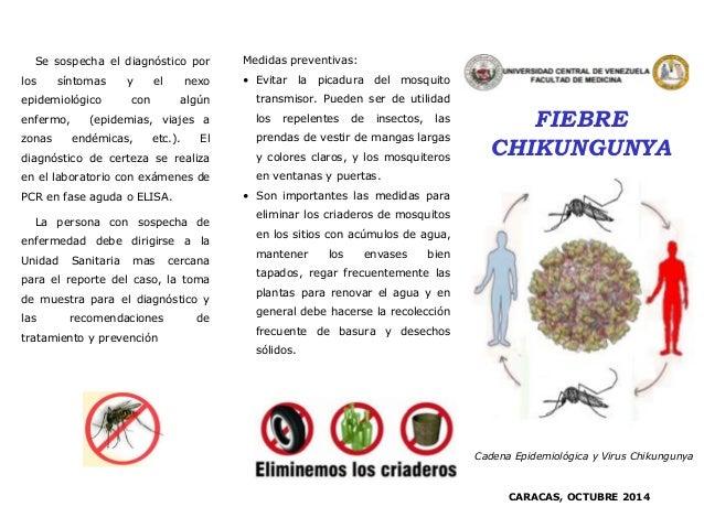 FIEBRE CHIKUNGUNYA  Medidaspreventivas:  •Evitarlapicaduradelmosquitotransmisor.Puedenserdeutilidadlosrepelentesdeinsectos...