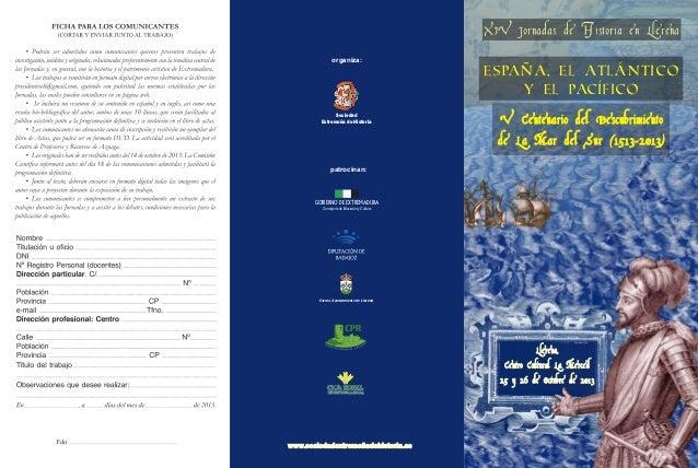 www.jornadasdehistoriaenllerena.comorganiza:SociedadExtremeña de Historiapatrocinan:Consejería de Educación y CulturaGOBIE...