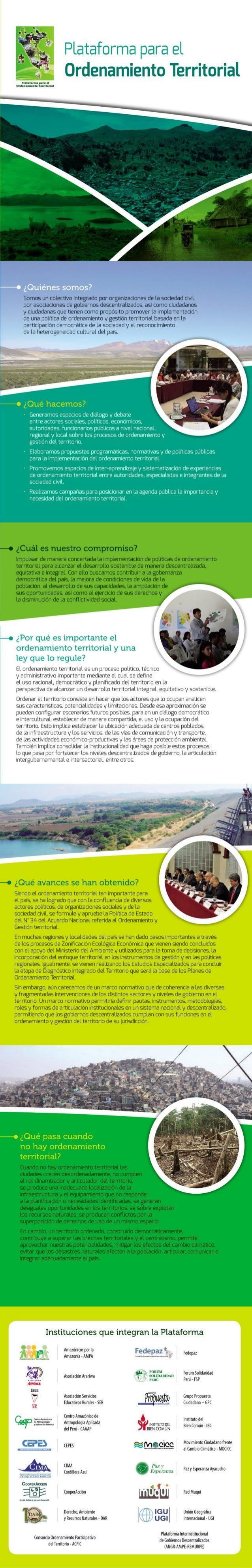 Plalufornu plfl el Ordonamionto Tonitorial  Somos un tolettivo integrado por organizationes de la sociedad tivil.  por aso...