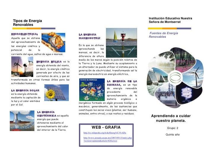 Institución Educativa Nuestra Tipos de Energía                                                                            ...