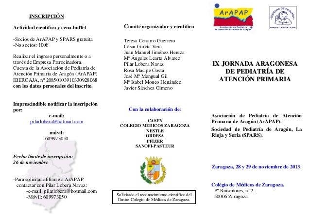 INSCRIPCIÓN Actividad científica y cena-buffet  Comité organizador y científico  -Socios de ArAPAP y SPARS gratuita -No so...