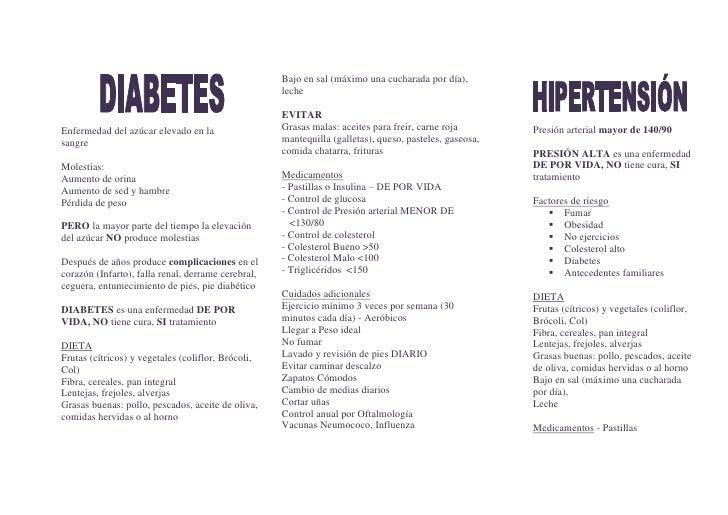 Enfermedad del azúcar elevado en la             sangre<br />Molestias: <br />Aumento de orina<br />Aumento de sed y hambre...