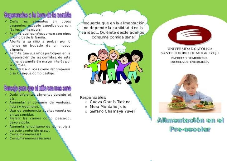 Alimentacion en el Pre-escolar (Triptico)